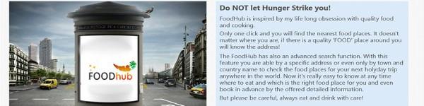 Windows 8 Application – FoodHub